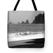La Push Beach Black And White Tote Bag