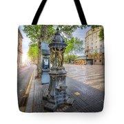 La Rambla Fountain  Tote Bag