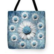 La Ronde Des Marguerites - Blue V02 Tote Bag by Variance Collections
