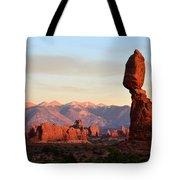 La Sal Mountains From Balanced Rock Tote Bag