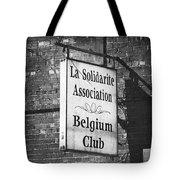 La Solidarite Association Belgium Club Tote Bag