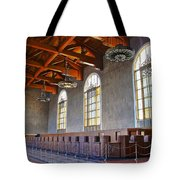 Los Angeles Union Station At Its 75th Anniversary Tote Bag