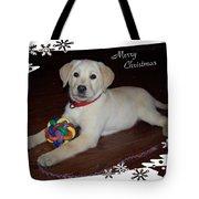 Lab Pup Merry Christmas Tote Bag