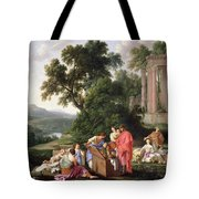 Laban Searching For The Idols, 1647 Oil On Canvas Tote Bag