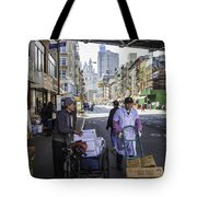 Laboring Under The Bridge 2 Tote Bag