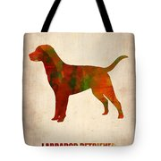 Labrador Retriever Poster Tote Bag by Naxart Studio