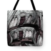 Labyrinth With Brown Doors Tote Bag