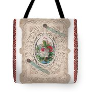 Lace And Roses Tote Bag