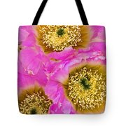 Lace Cactus Flowers Tote Bag