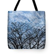 Lace On Blue Tote Bag