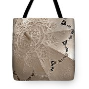 Lace Parasol In Sepia Tote Bag