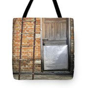 Ladder And Door Tote Bag