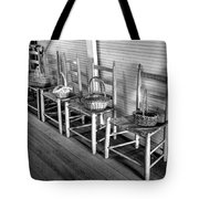 Ladder Back Chairs And Baskets Tote Bag by Lynn Palmer