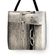Ladder Chain Bw Tote Bag