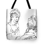Ladies Chatting Tote Bag