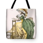 Ladies Elaborate Gown, Engraved Tote Bag