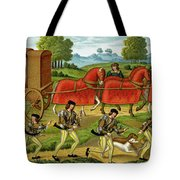 Ladies Hunting, From A Miniature Tote Bag