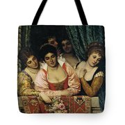 Ladies On A Balcony Tote Bag