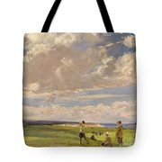 Lady Astor Playing Golf At North Berwick Tote Bag
