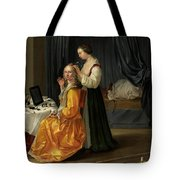 Lady At Her Toilet Tote Bag