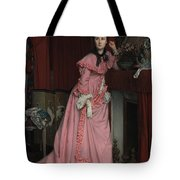 Lady At The Fireplace   Tote Bag