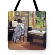Lady At The Piano Tote Bag