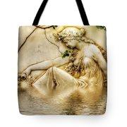 Lady Bathing 2 Tote Bag