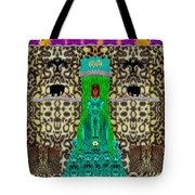 Lady Bear In The Jungle Tote Bag