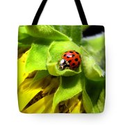 Ladybug And Sunflower Tote Bag