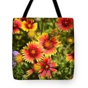 Lady Bird And Her Flowers Tote Bag