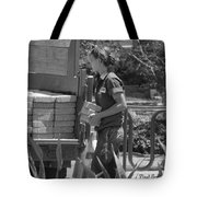 Lady Bricklayer Tote Bag