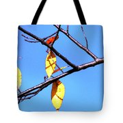 Lady Bug And Leaves Tote Bag