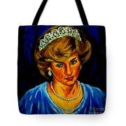 Lady Diana Portrait Tote Bag