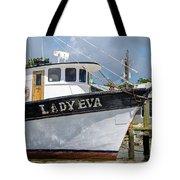 Lady Eva Shrimp Boat Tote Bag