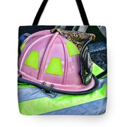 Lady Firefighter Tote Bag