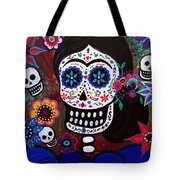 Lady Frida In Blue Tote Bag