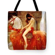 Lady Godiva Tote Bag by Pg Reproductions
