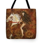 Lady Godiva Rides For Love Tote Bag