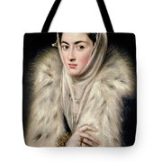 Lady In A Fur Wrap Tote Bag