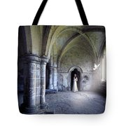 Lady In Abbey Room With Doves Tote Bag