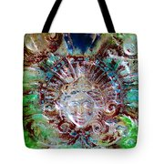 Lady In Glass Tote Bag