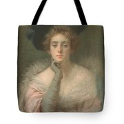 Lady In Pink Tote Bag