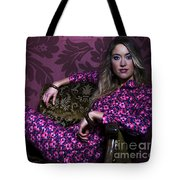 Lady In Pink... Tote Bag
