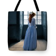 Lady In Purple Gown By Window Tote Bag