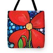 Lady In Red 2 - Buy Poppy Prints Online Tote Bag