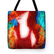 Lady In Red 2 Tote Bag