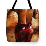 Lady In Red /24 Tote Bag