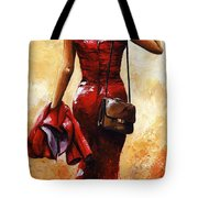 Lady In Red #25 Tote Bag