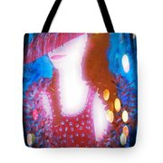 Lady In Red 3 Tote Bag