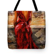Lady In Red  34 -  I Love Budapest Tote Bag